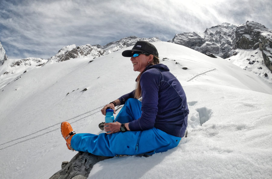 A break after touring up and before we ski down from Annapurna Base Camp, 4 500m